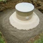 Einbau Erdtank - frisch vergraben
